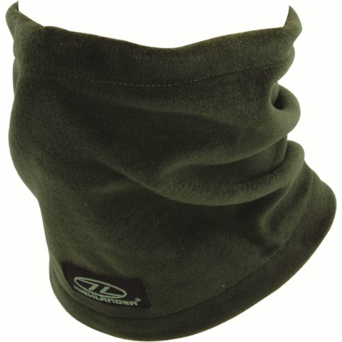 Olive Polar Fleece Neck Warmer -  neck warmer highlander polar fleece  black olive green