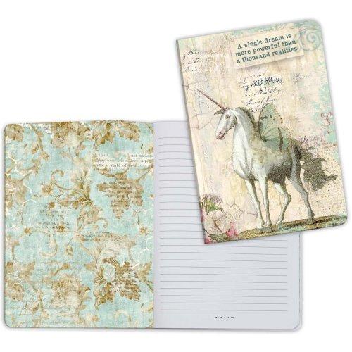 Stamperia Lined Notebook A5-Unicorn, Wonderland