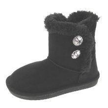 Fur Lined Snugg Fashion Boots in Black