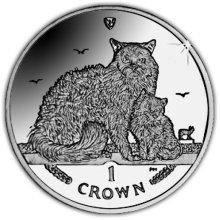 Isle of Man 2015 Selkirk Rex Cat Unc. CuNi Coin