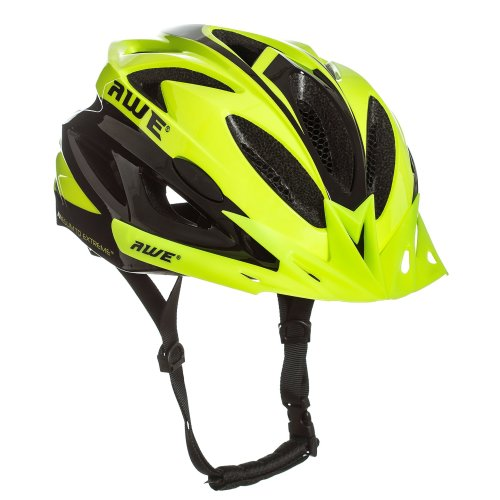 AWE® AWEAir™ FREE 5 YEAR CRASH REPLACEMENT* In Mould Adult Mens Cycling Helmet 58-61cm Neon