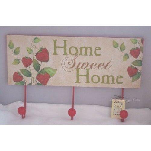 Coat Robe Hooks Rack Kitchen Strawberry Design Home Sweet Home
