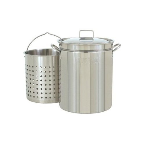 Bayou Classic KDS-144 44 qt Stainless Boil Steam Fry Pot Stock