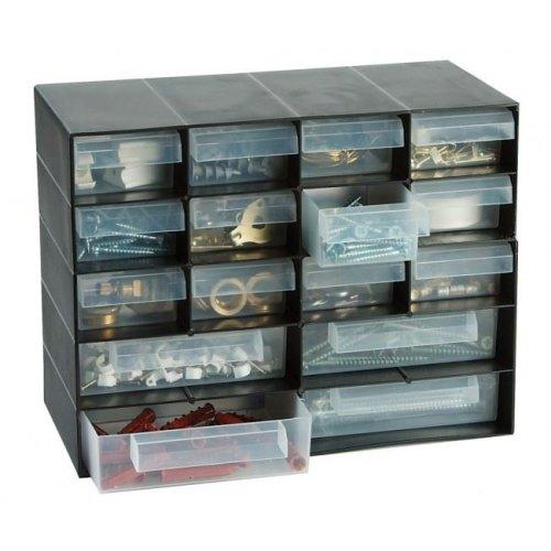 Plastic 16 Multi Drawer Storage Cabinet Organiser For Home Garage Diy Hobby Craft