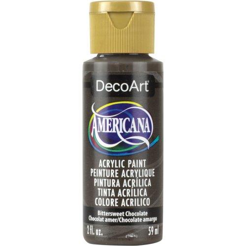 Americana Acrylic Paint 2oz-Bittersweet Chocolate - Opaque