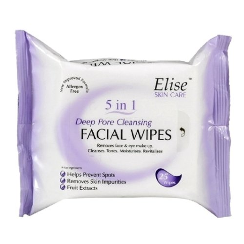 Elise 5 in 1 Deep Pore Cleansing Facial Wipes