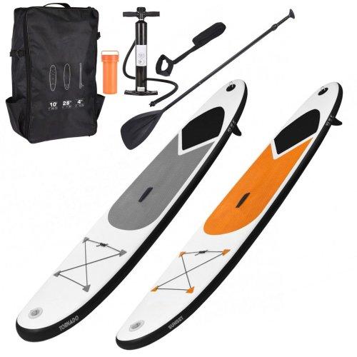 SUP Surf Board with Adjustable Paddle, Ankle Strap, Pump & Carry Bag, 320 cm