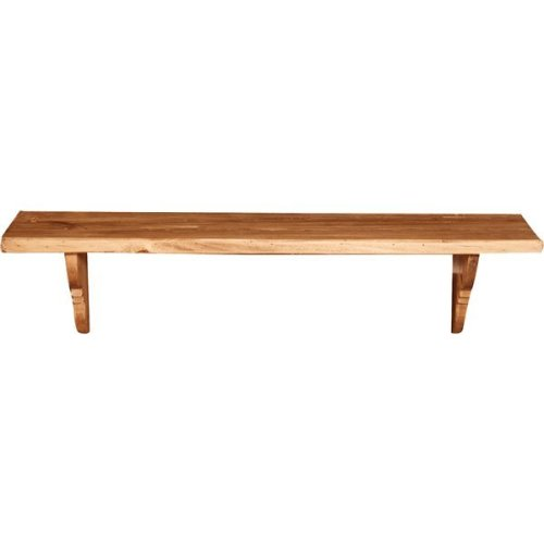 Solid Lime Wood Natural Finish W90xdp22xh22 Cm Made In Italy Sized Wall Shelf.