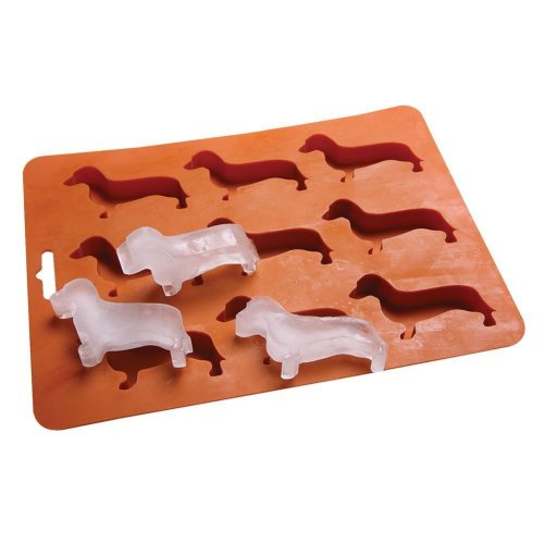 AYOMI Cute Dachshund Dog Shaped Ice Cube Mold Tray