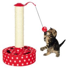 Scratching Post, Fleece, 45 Cm, Red/white - Trixie Cats Play Tree Fleece New -  trixie cats play tree fleece new scratch post kitten toy