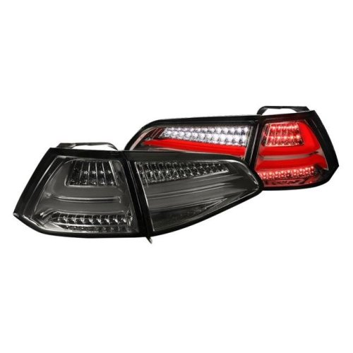 Spec D Tuning LT-GLF15GLED-TM Fiber Optic LED Tail Lights for 2015 & Up Volkswagen Golf MK7 - Chrome, Red & Smoke