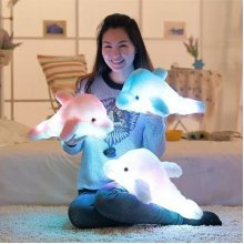 SOFO Colorful LED Light Dolphin Plush Toy