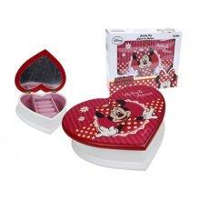 Minnie Red Heart Shaped Jewellery Box W/mirror -  minnie mouse red heart shaped jewellery holder storage case box mirror new
