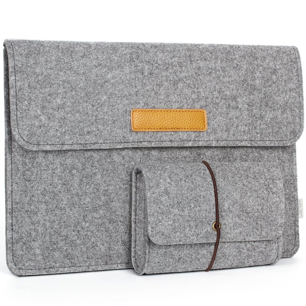 Jsver Laptop Sleeve Case Cover For 15 Inch Macbook Pro Retina Felt Grey