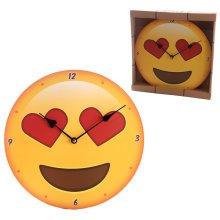 Decorative Emotive Heart Eyes Wall Clock