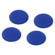 ZedLabz convex soft silicone thumb grips for Sony PS4 controller analog sticks - 4 pack blue