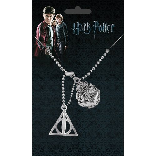 Harry Potter Crest & Hallows Dog Tag