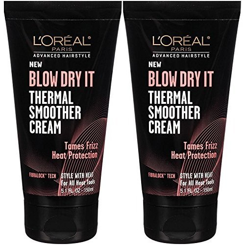 Loreal Paris Advance Hairstyle Blow Dry It Thermal Smoother Cream 5 1 Ounce Pack of 2