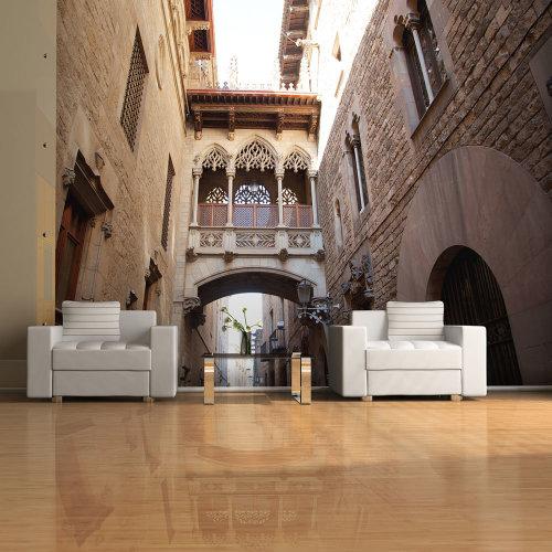 Wallpaper - Barcelona Palau generalitat in gothic Barrio