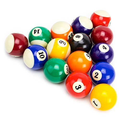 Felson Billiard Supplies Precision Engineered Billiard Balls Full Set of 16 Balls for Pool Tables Includes Eight Ball White Cue Ball