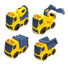 deAO Mini Construction Trucks - Set of 4
