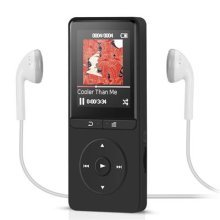 Music Player AGPTEK A20S,16 GB MP3 Player Lossless Sound 70 Hours Playback with Radio FM and Expandable MicroSD Slot Support 64GB, Black