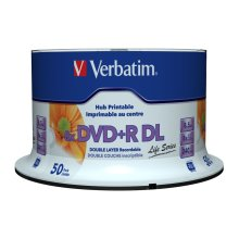 Verbatim DVD+R Double Layer Inkjet Printable 8x Life Series 8.5GB DVD+R DL 50pc(s)