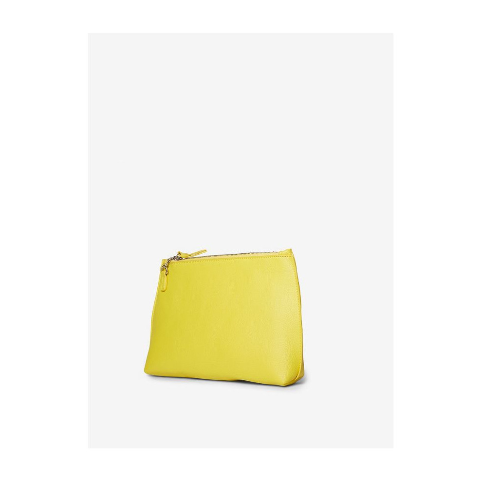 a598ced7da DOROTHY PERKINS YELLOW POUCH ZIP TOP CLUTCH BAG on OnBuy
