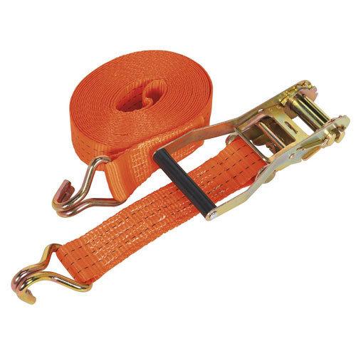 Sealey TD3008J 50mm x 8mtr Polyester Webbing Ratchet Tie Down 3000kg Load Test