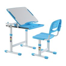 Ergonomic Kids Desk Chair Height Adjustable Children Table - Mini Blue