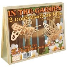 In the Garden 2 Construction Kits & Fun Fact Booklet - Butterfly and Bee