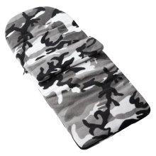 Fleece Footmuff Compatible With Mamas & Papas Aria - Grey Camouflage