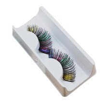 Set of 3 Fake Eyelashes for Party or Performance Multi-color Style