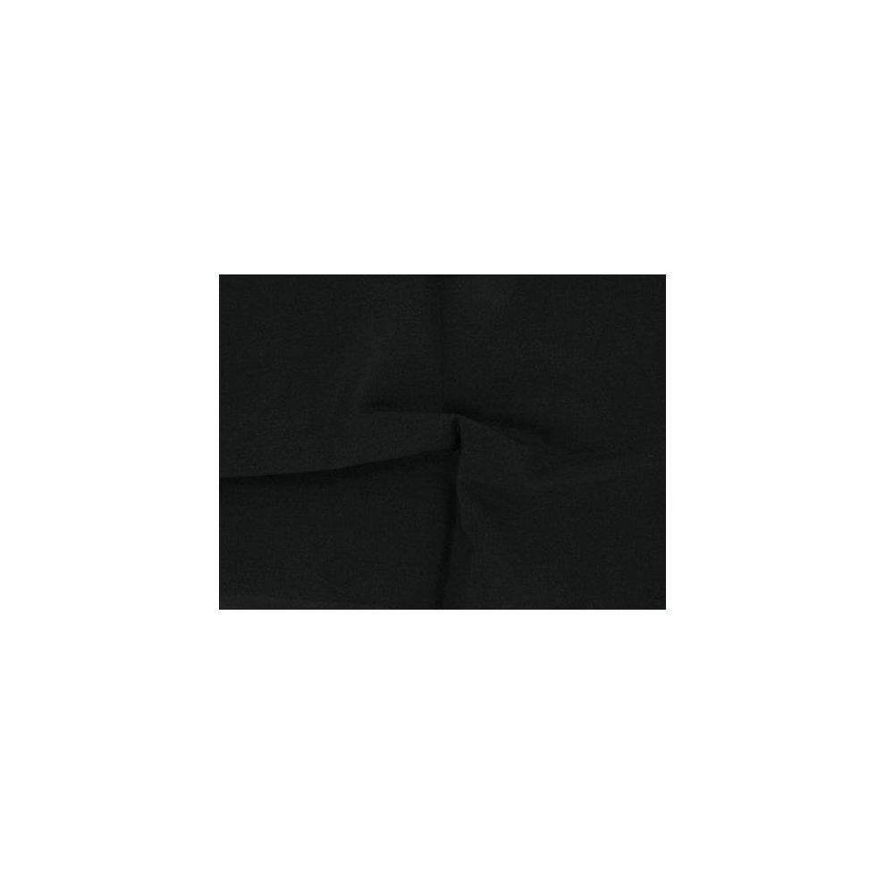 Dalston Mill Fabrics 298-15-L3 100% Premium Plain Cotton Fabric, Black, 3m