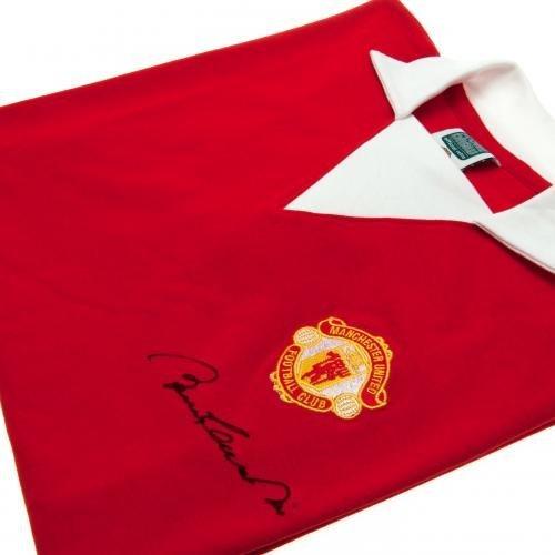 Manchester United F.C. Bobby Charlton 1973 Signed Replica Shirt