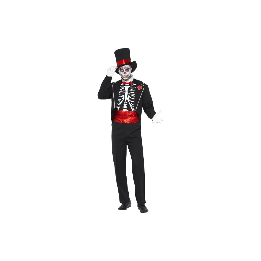 large mens day of the dead costume - costume day dead mens halloween