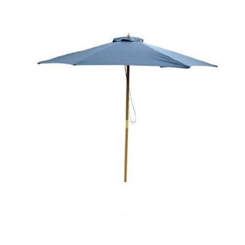 Outsunny 2.5m Wood Wooden Garden Parasol Umbrella