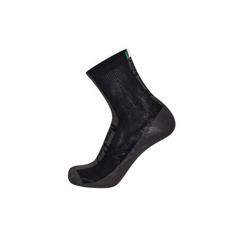 XS Black Men's Santini Flag High Profile Coolmax Socks - 365 Mens Xsmallsmall -  santini flag coolmax socks black 365 mens high profile xsmallsmall