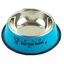 Little Stainless Steel Bowl Set Feeding Pot/Pet Bowl/Dog Bowl/Cat Bowl For Food & Water M Size (Blue#01)