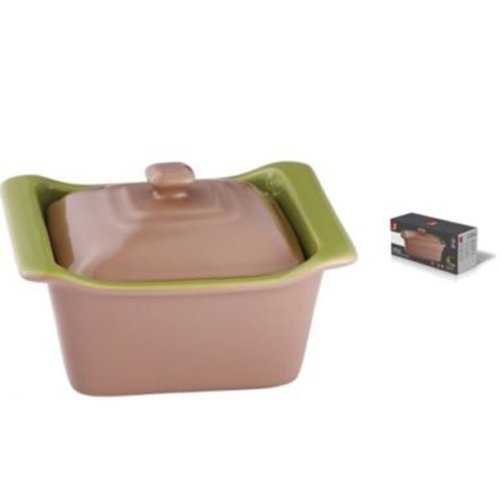 Bergner Brown Stoneware Oven Baking Dish With Lid 0.5 Litres