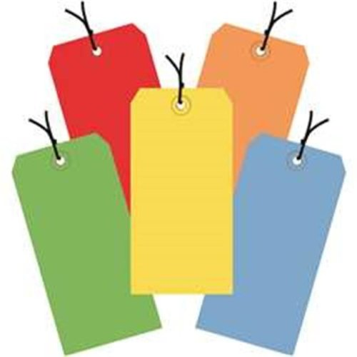 Box Partners G20002 4.75 x 2.38 in. Assorted Color 13 Point Shipping Tags - Pre-Strung - Pack of 1000