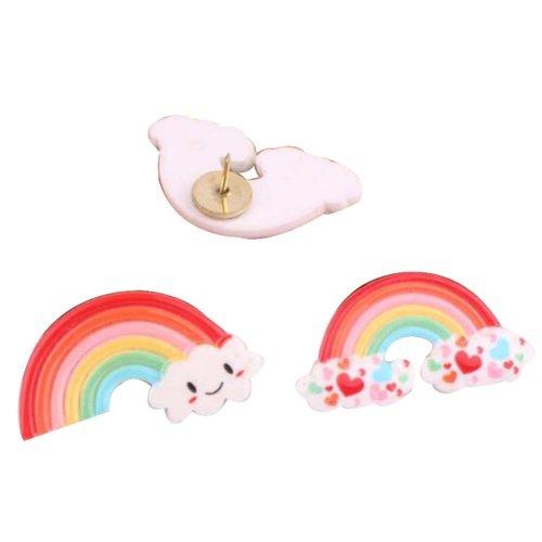 4 Pcs Creative Pushpin Push Pin Thumbtack Office Supplies, Rainbow