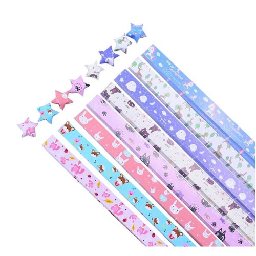 Lovely Cartoon Animals Pattern Lucky Star Craft Paper 370 Sheets