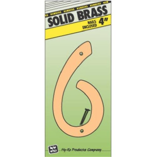 Hy-Ko Products BR-40-6 4 in. Brass Number 6