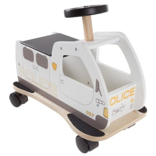 Happy Trails 80-HTPOLICE Ride on Police Car Toy Box