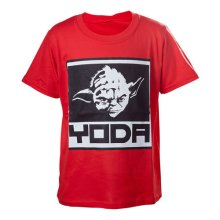 Star Wars Kids Boys Yoda Framed Closeup T-Shirt 134/140 Red TSY19614STW-134/140