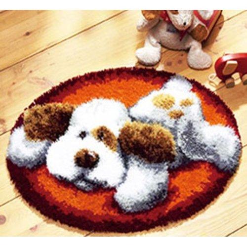 "Latch Hook Kit""Playful Dog"" 52cm Circular"