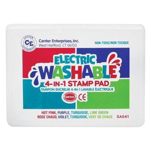 Center Enterprises CE-SA541-2 Stamp Pad Electric Washable, Multi Color - 2 Each