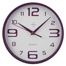 Premier Housewares Round Wall Clock - Purple