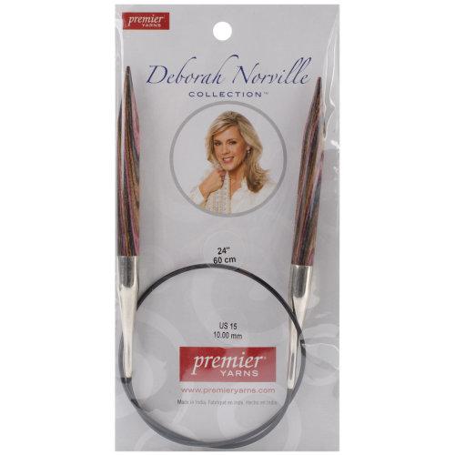 "Premier Fixed Circular Knitting Needles 24""-Size 15/10mm"